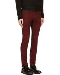 Diet Butcher Slim Skin | Black and Red Flannel Check Jeans | Lyst