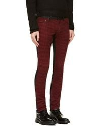 Diet Butcher Slim Skin - Black and Red Flannel Check Jeans - Lyst