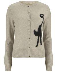 Orla Kiely - Women'S Cat Intarsia Wool Cardigan - Lyst