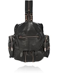 Alexander Wang Mini Marti Backpack in Washed Black with Rose Gold - Lyst