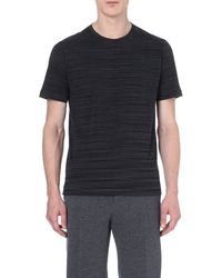 Missoni Striped Cotton T-shirt - Lyst