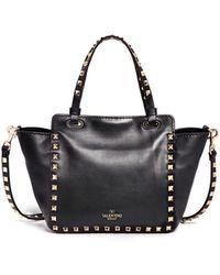 Valentino 'Rockstud' Mini Leather Tote - Lyst