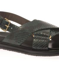 Marni Python and Leather Sandals - Lyst