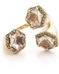 Rebecca Minkoff - 3 Stone Wrap Ring - Lyst