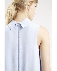 Topshop Roll Neck Tunic Dress blue - Lyst