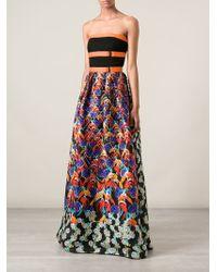 Peter Pilotto Freya Textured Print Maxi Dress - Lyst