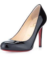 Christian Louboutin Simple Patent Red Sole Pump - Lyst