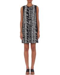 Proenza Schouler Woodcut Block-pattern A-line Dress - Lyst