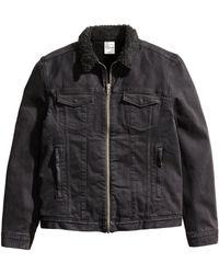 H&M | Pile-lined Denim Jacket | Lyst