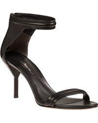 3.1 Phillip Lim Martini Sandal Black Leather - Lyst