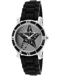 Thierry Mugler  Rubber Black Star Textured Dial - Lyst