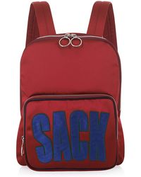 House of Holland | Maroon Backpack And Sack | Lyst