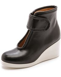 Maison Martin Margiela Velcro Wedge Booties - Black - Lyst