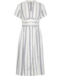 Sea Striped Linen-Blend Dress - Lyst