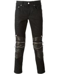 Saint Laurent Skinny Biker Jeans - Lyst