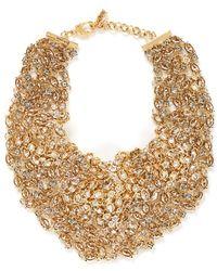 St. John - 'night Bloom' Swarovski Crystal Laurel Plastron Necklace - Lyst