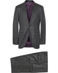 Hackett - Grey Mayfair Slim-Fit Windowpane Check Wool Suit - Lyst