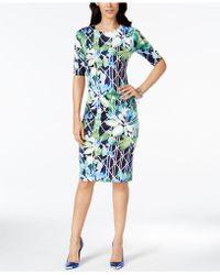 Vince Camuto | Short-sleeve Bodycon Midi Dress | Lyst