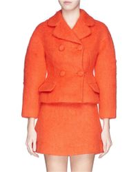 Chictopia - Double Breasted Wool Blend Coat - Lyst
