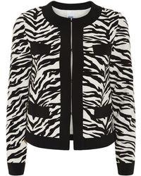 Moschino Cheap & Chic Zebra Print Blazer - Lyst