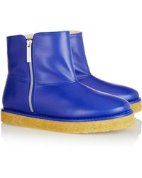 Stella McCartney Brompton Faux Leather Ankle Boots - Lyst
