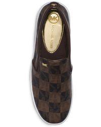 Michael Kors Keaton Logo Checkerboard Slipon Sneaker - Lyst