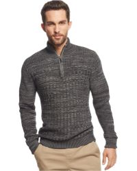 Vince Camuto - Mixed-knit Jumper - Lyst