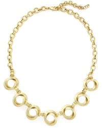 Cole Haan - Bang On Double Circle Necklace - Lyst