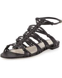 Jason Wu Strappy Flat Sandal - Lyst