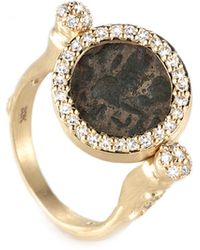 Coomi - Antiquity 20k Flip Coin Ring With Diamonds - Lyst