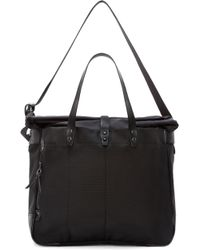 Nanamica - Black Cordura And Leather Briefcase - Lyst