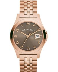 Marc By Marc Jacobs Women'S The Slim Rose Gold-Tone Stainless Steel Bracelet Watch 36Mm Mbm3350 - Lyst