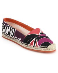 Burberry Prorsum Bettany Printed Espadrilles purple - Lyst