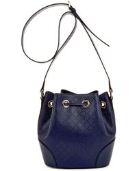 Gucci Diamante-effect Leather Bucket Bag - Lyst
