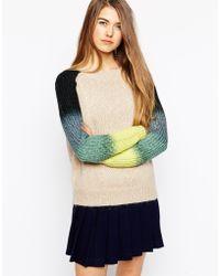 Shae Splatter Dip Dye Sleeve Sweater - Lyst