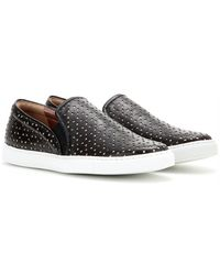 Tabitha Simmons Huntington Perforated Leather Sneakers black - Lyst