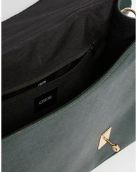 ASOS   Smart Satchel Bag With Metal Flap Detail   Lyst