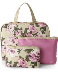 Adrienne Vittadini Floral 3-Piece Cosmetic Bag Set - Lyst
