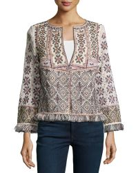 Calypso St. Barth - Beranti Patchwork Cotton Jacket - Lyst