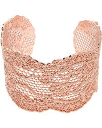 Aurelie Bidermann 18k Rose Gold Lace Cuff - Lyst
