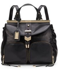 Badgley Mischka - Helena Nappa Leather Convertible Backpack - Lyst