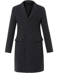Burberry Prorsum Herringbone Wool and Cashmereblend Coat - Lyst