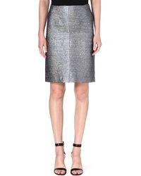 Jil Sander Salvia Metallic Pencil Skirt Silver - Lyst
