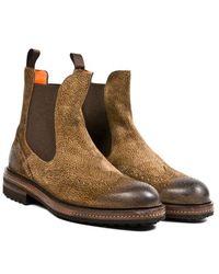 Santoni Commando Boots - Lyst