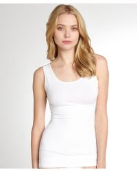 Yummie By Heather Thomson White Stretch Jersey Girlfriend Shapewear Tank - Lyst