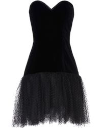 Yves Saint Laurent Rive Gauche Short Dress black - Lyst