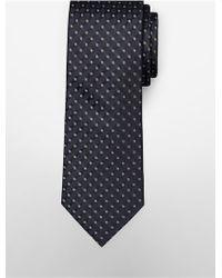 CALVIN KLEIN 205W39NYC - White Label Steel Filigree Silk Tie - Lyst
