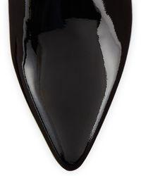 Stuart Weitzman Zepher Patent Ankle Boot - Lyst