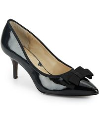 Adrienne Vittadini | Selby Bow Patent Pumps | Lyst