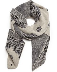 Band Of Outsiders Broken Fair Isle Scarf - Lyst